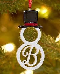 boxed monogram snowman ornaments ltd commodities