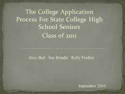 the college application process for state college high