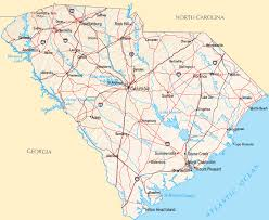 usa carolina map south carolina counties road map usa
