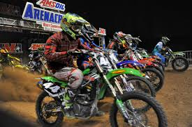 dirt bike motocross racing arenacross dirt bike race speeds into baltimore arena