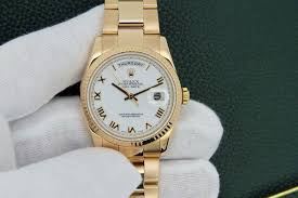 rolex white gold oyster bracelet images Rolex mens rose gold daydate presidential oyster bracelet watch jpg