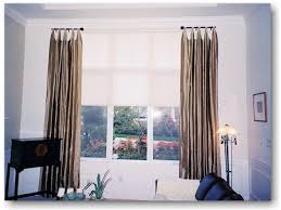 Sidelight Panel Curtain Rod by Window Panels 96 Inches Long Lined Drapery Panels Stationary Side