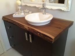 Bathroom Sink On Top Of Vanity Lovely Live Edge Black Walnut Bathroom Countertop This Would Be