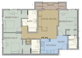three bedroom flat floor plan marvellous design building plans three bedroom flat 1 plan 3 on