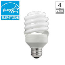 philips 75w equivalent soft white t2 spiral cfl light bulb 4 pack