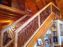 rustic railing ballusters stair railing and balcony handrail
