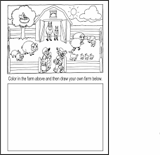 farm coloring pages to print free cowboy sheets preschoolers