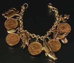 antique jewelry bracelet images Antique jewelry gold charm bracelet with coins jpg
