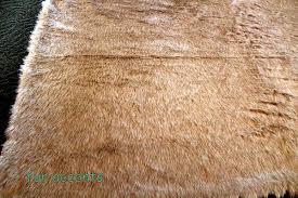 deer skin accent rug fake faux fur 4 u0027 x 5 u0027 rectangle