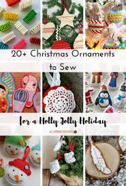 20 ornaments to sew for a jolly
