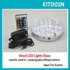 Led Vase Base Light 20pcs 6inch Rechargeable Battery Remote Control Led Light Base Led