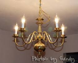 Diy Ball Chandelier Chandelier Makeover Organize With Sandy Organize With Sandy