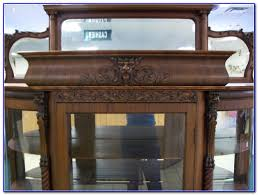 Antique Breakfront China Cabinet by Antique Mahogany China Cabinet Curved Glass Cabinet Home
