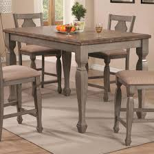 Counter Height Dining Room Furniture Coaster 106308 Riverbend Counter Height Dining Table Two Tone Finish