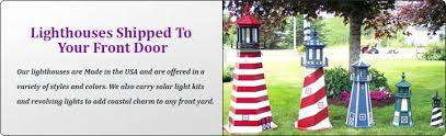 maine lighthouses and lawn ornaments whirligigs wind bells