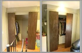 Closet Barn Doors Closets With Sliding Barn Style Doors 6 Steps With Pictures