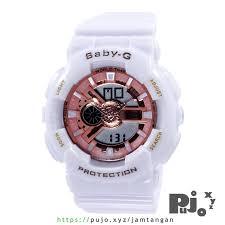 Jam Tangan Baby G jual baby g ba 110 7a1 putih gold jam tangan pujo xyz