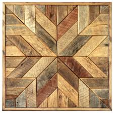 wood star wall art star quilt block rustic wall decor by