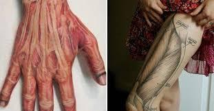 12 bold anatomic tattoos tattoodo