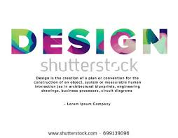 design definition in advertising word design definition main page template stock vector 699139096