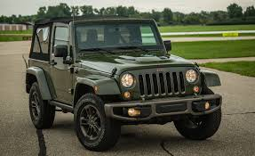 old jeep wrangler 2016 jeep wrangler 75th anniversary edition test u2013 review u2013 car