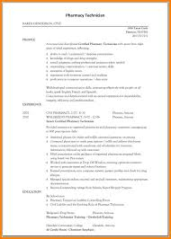 Resume Objective Pharmacy Technician 10 Pharmacy Resume Objective Address Example