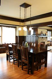 Craftsman Home Interior Design by Dining Room With Wainscoting And Ceiling Beams U2013 1908 Craftsman