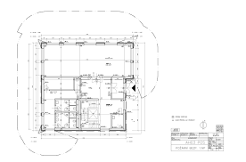 ventilation and air conditioning ground plan technical drawing
