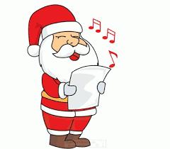 animated santa christmas animated clipart santa singing animation f
