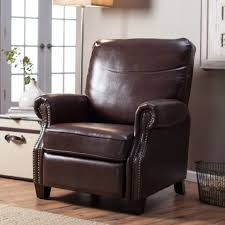 chairs reclining wing chairs leather wingback recliner back