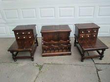 Ethan Allen Tables Vintage Set Of 3 Ethan Allen Old Tavern Pine Lamp Tables Lamp
