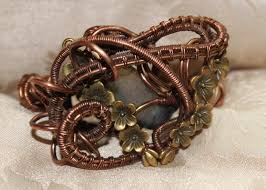 dragon wrap bracelet images Wire wrap handmade copper bangle with dragon vein by rivergold on png