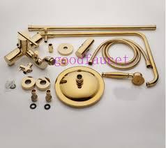 Bathroom Faucet And Shower Sets Wholesale Golden Brass Bathroom Faucet Shower Sets Mixer Tap