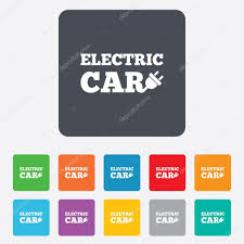 electric vehicles symbol electric car sign icon electric vehicle symbol u2014 stock vector