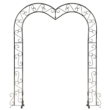 wedding arches supplies koch originals heart wedding arch onyx bronze