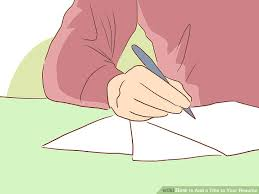 how to add a title to your resume 11 steps with pictures