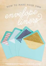 how to make your own envelope envelope liner tutorial the budget savvy bride