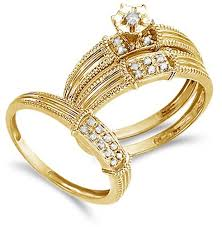 gold bridal sets women s bridal wedding ring set k yellow gold my trio rings in