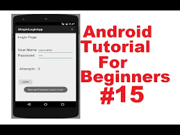 tutorial android user android studio android login screen exle android studio