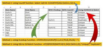 ways to find duplicate values on same worksheet excel