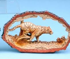 tiger ornament wood effect tiger ornaments yourpresents co uk