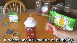 manual foodsaver vacuum seal a mason jar with a handcrank pump food storage shtf