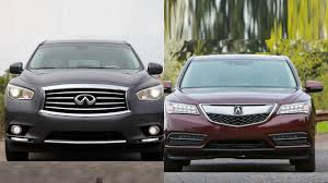 lexus sedan vs acura sedan 2016 infiniti qx60 vs 2016 acura mdx youtube