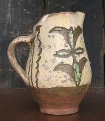 late medieval tudor pottery jug slipware decorated tudor