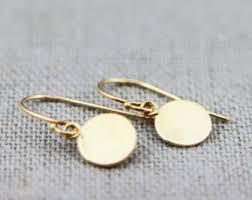 gold disc earrings gold disc earrings etsy