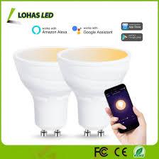 alexa compatible light bulbs china 5w gu10 multicolored led spotlight bulb wifi smart led bulb