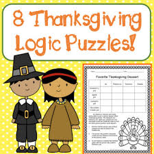 thanksgiving logic puzzles for beginners critical thinking gr
