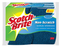 amazon com scotch brite delicate care scrub sponge 3 sponges pk