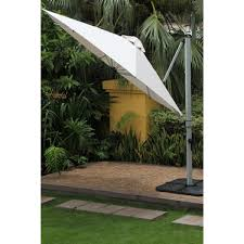 11 ft octagon aurora acrylic cantilever umbrella by frankford