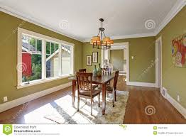 dining room with olive tone walls stock photo image 45847996